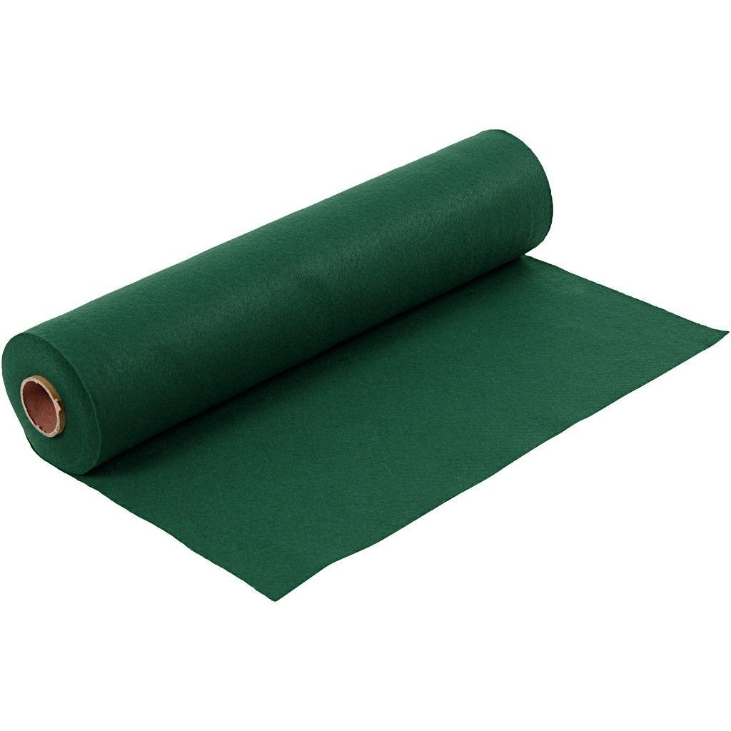 Felt - Dark Green (by the metre) W: 45 cm, thickness 1,5 mm, 180-200 g/m2