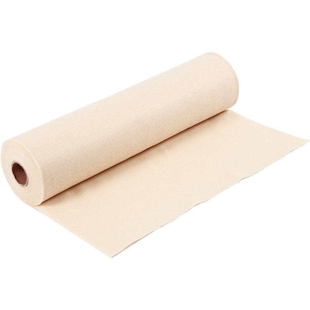 Felt - Beige/Light Skin (by the metre) W: 45 cm, thickness 1,5 mm, 180-200 g/m2