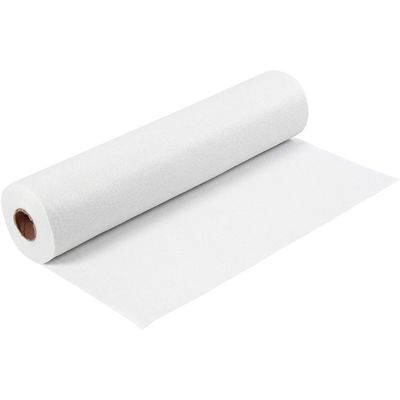 Felt - White (by the metre) W: 45 cm, thickness 1,5 mm, 180-200 g/m2