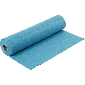 Felt - Turquoise (by the metre) W: 45 cm, thickness 1,5 mm, 180-200 g/m2