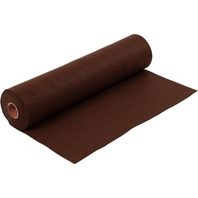 Felt - Dark Brown (by the metre) W: 45 cm, thickness 1,5 mm, 180-200 g/m2