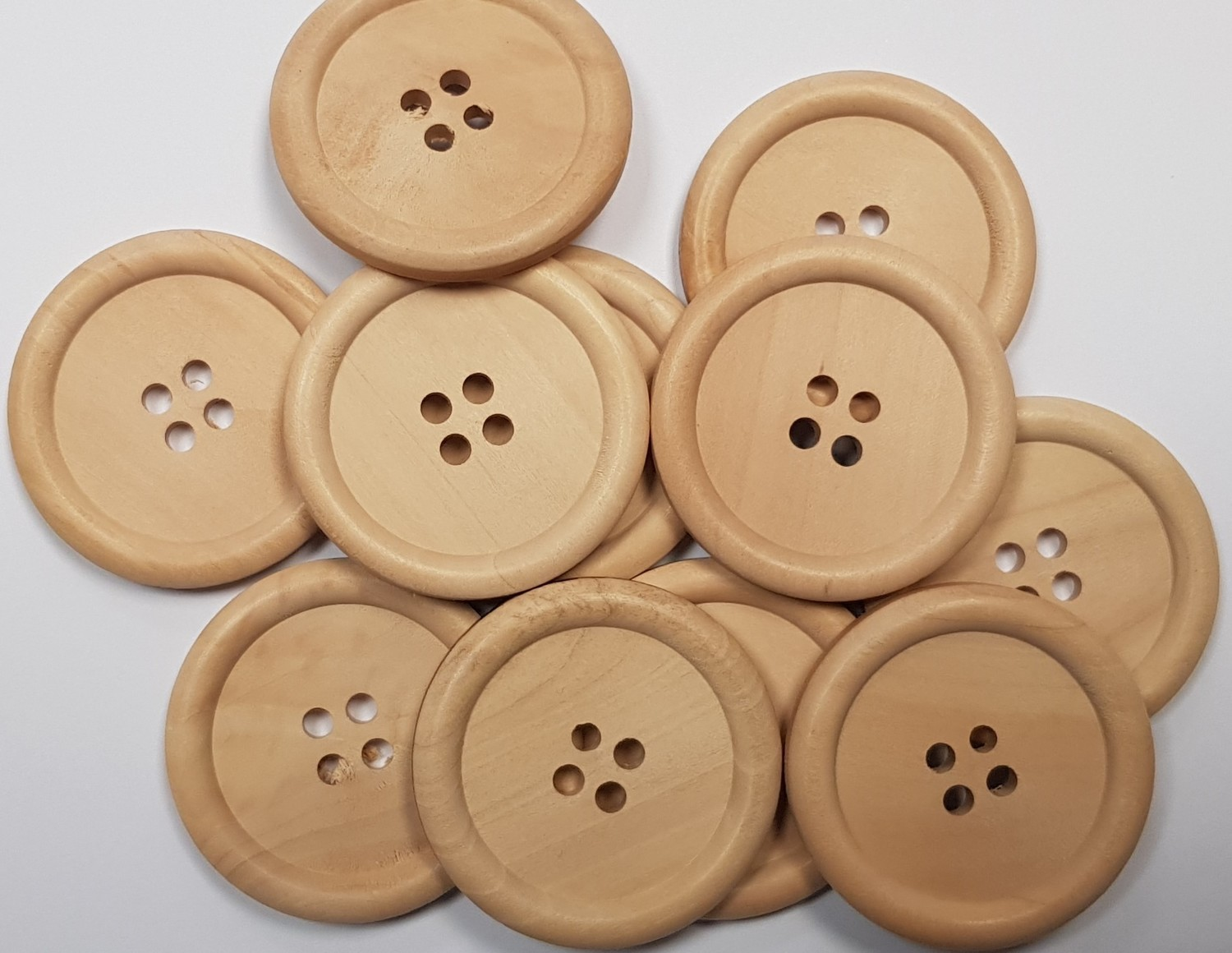 40mm Wooden Button x 10