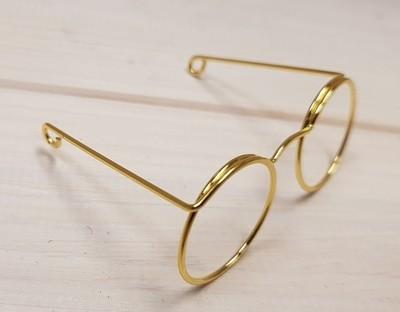 Novelty Glasses, W: 50 mm, hole size 17 mm, gold, 10pcs