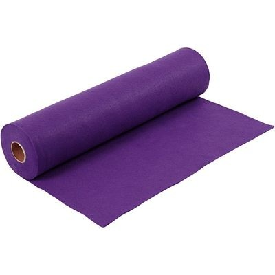 Felt - Purple (by the metre) W: 45 cm, thickness 1,5 mm, 180-200 g/m2