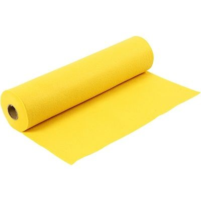 Felt - Yellow (by the metre) W: 45 cm, thickness 1,5 mm, 180-200 g/m2