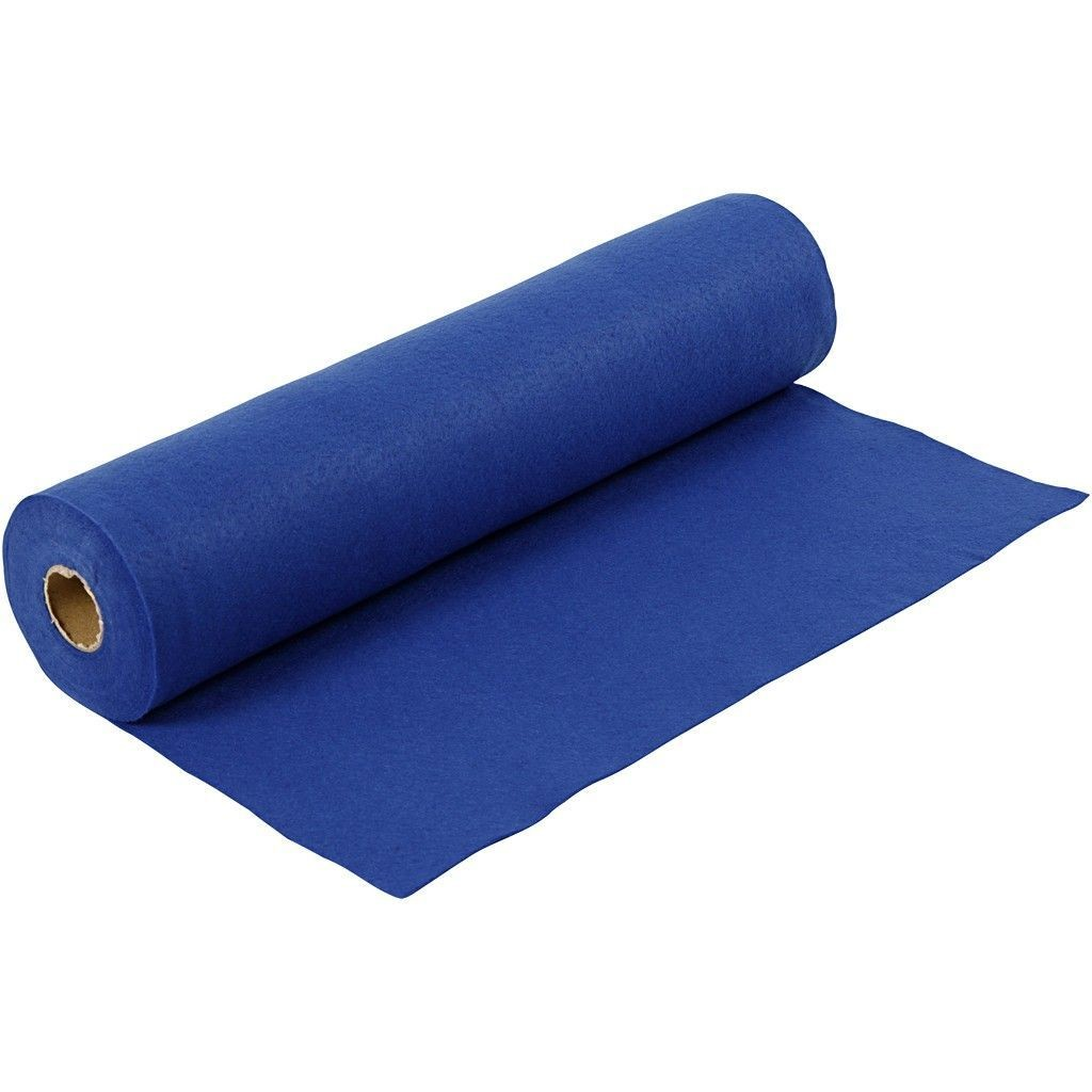 Felt - Dark Blue (by the metre) W: 45 cm, thickness 1,5 mm, 180-200 g/m2