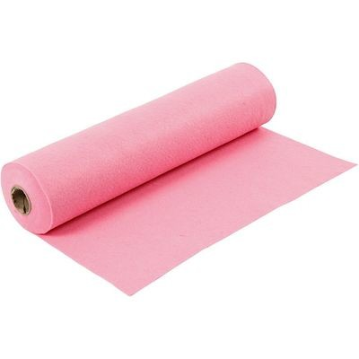 Felt - Pink (by the metre) W: 45 cm, thickness 1,5 mm, 180-200 g/m2