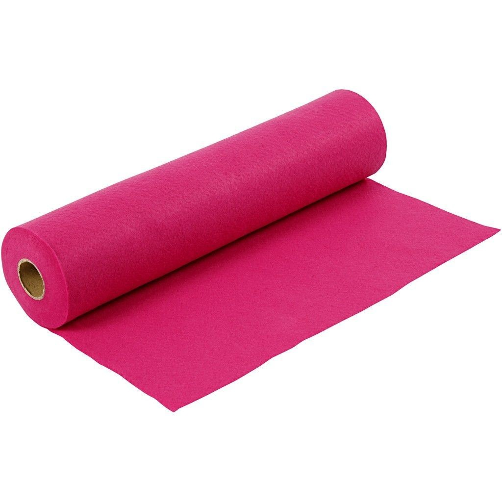 Felt - Cerise (by the metre) W: 45 cm, thickness 1,5 mm, 180-200 g/m2