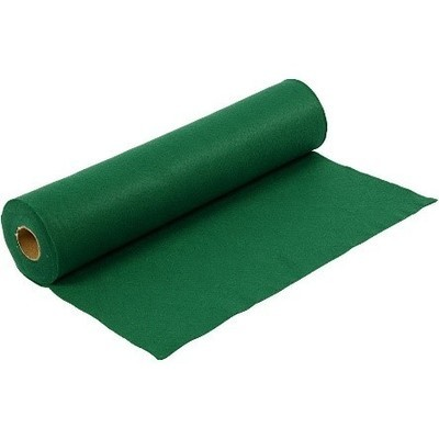 Felt - Green (by the metre) W: 45 cm, thickness 1,5 mm, 180-200 g/m2