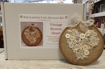Craft Afternoon Kit - Vintage Button Heart