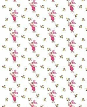 DISNEY Winnie the Pooh - Piglet - 100% Cotton Fabric