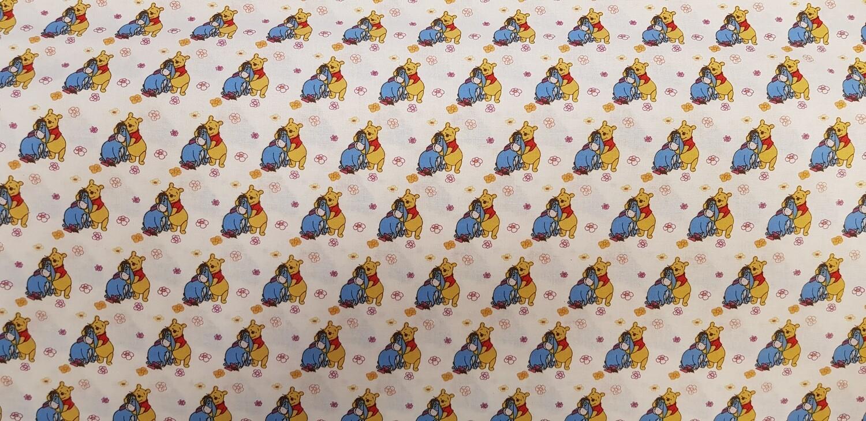 DISNEY Winnie the Pooh- Pooh and Eeyore -  100% Cotton Fabric
