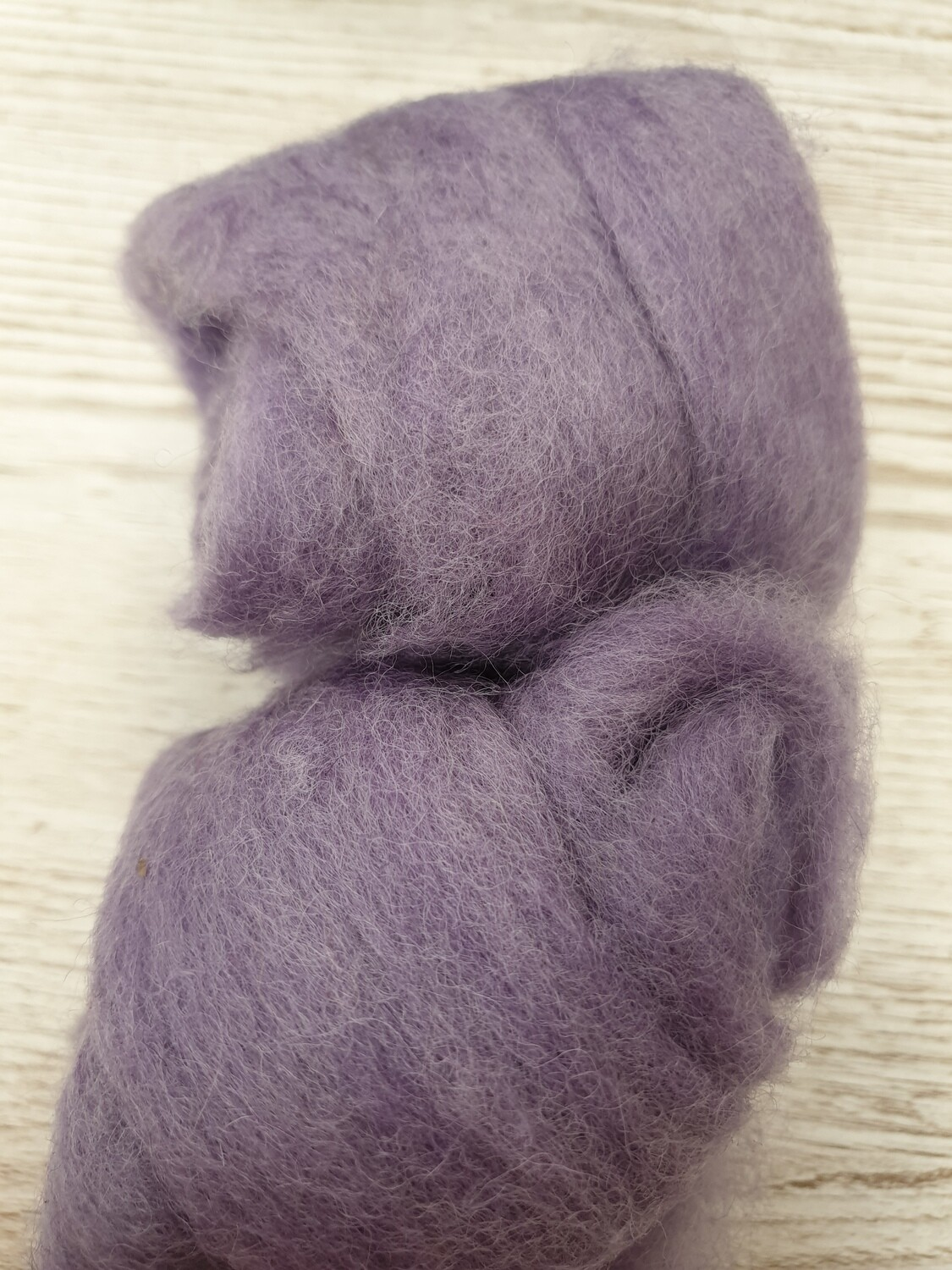 Carded Felting Wool  20 g - Lilac