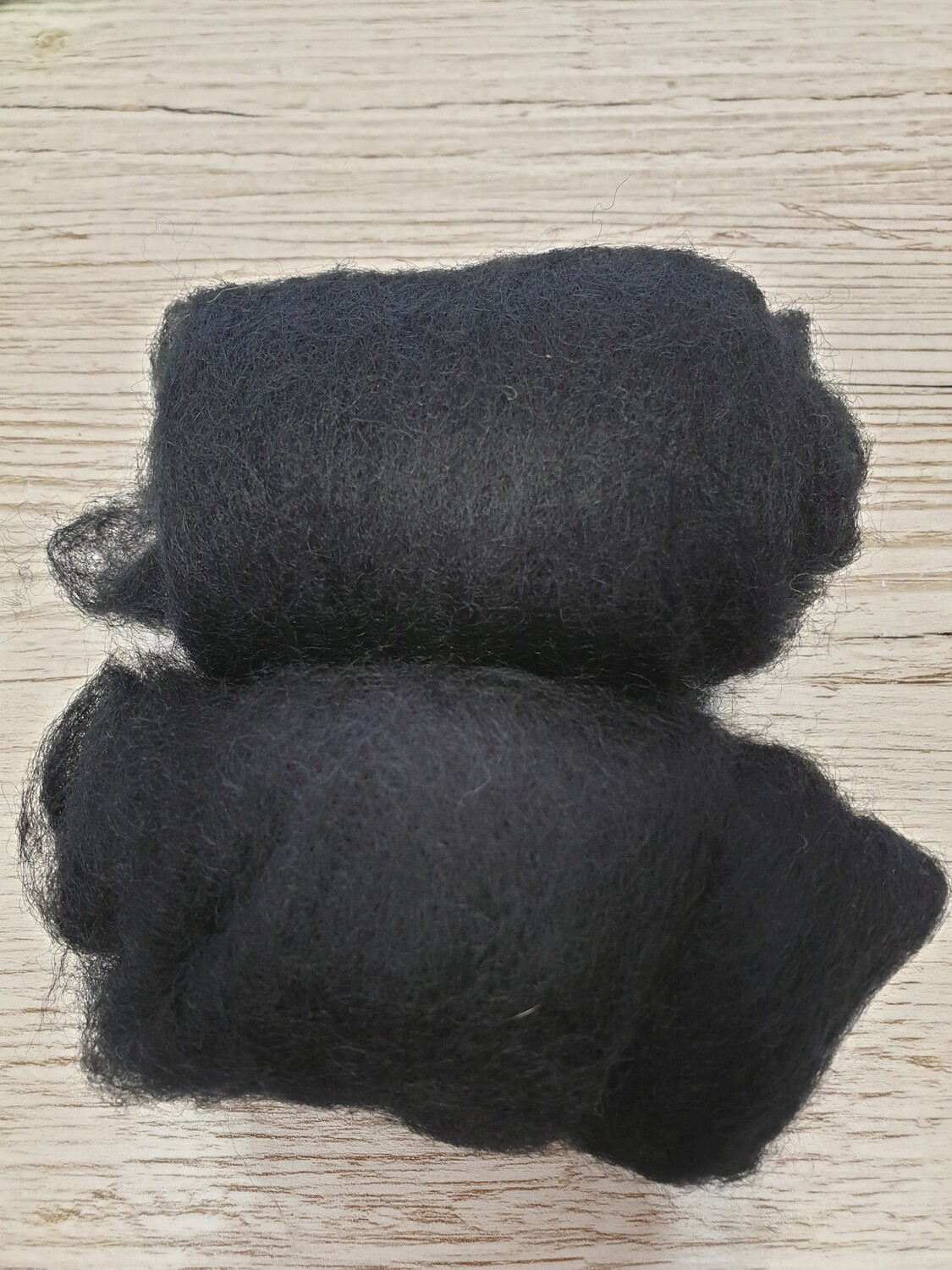Carded Felting Wool  20 g - Black