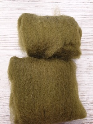 Carded Felting Wool  20 g - Olive