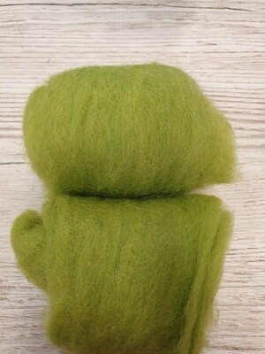 Carded Felting Wool  20 g - Lime