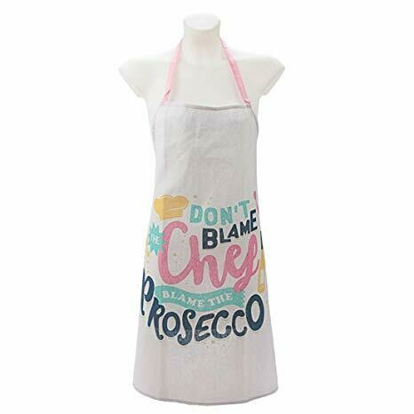 Apron. 'DON'T BLAME THE CHEF, BLAME THE PROSECCO'