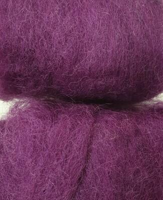 Carded Felting Wool  20 g - Plum