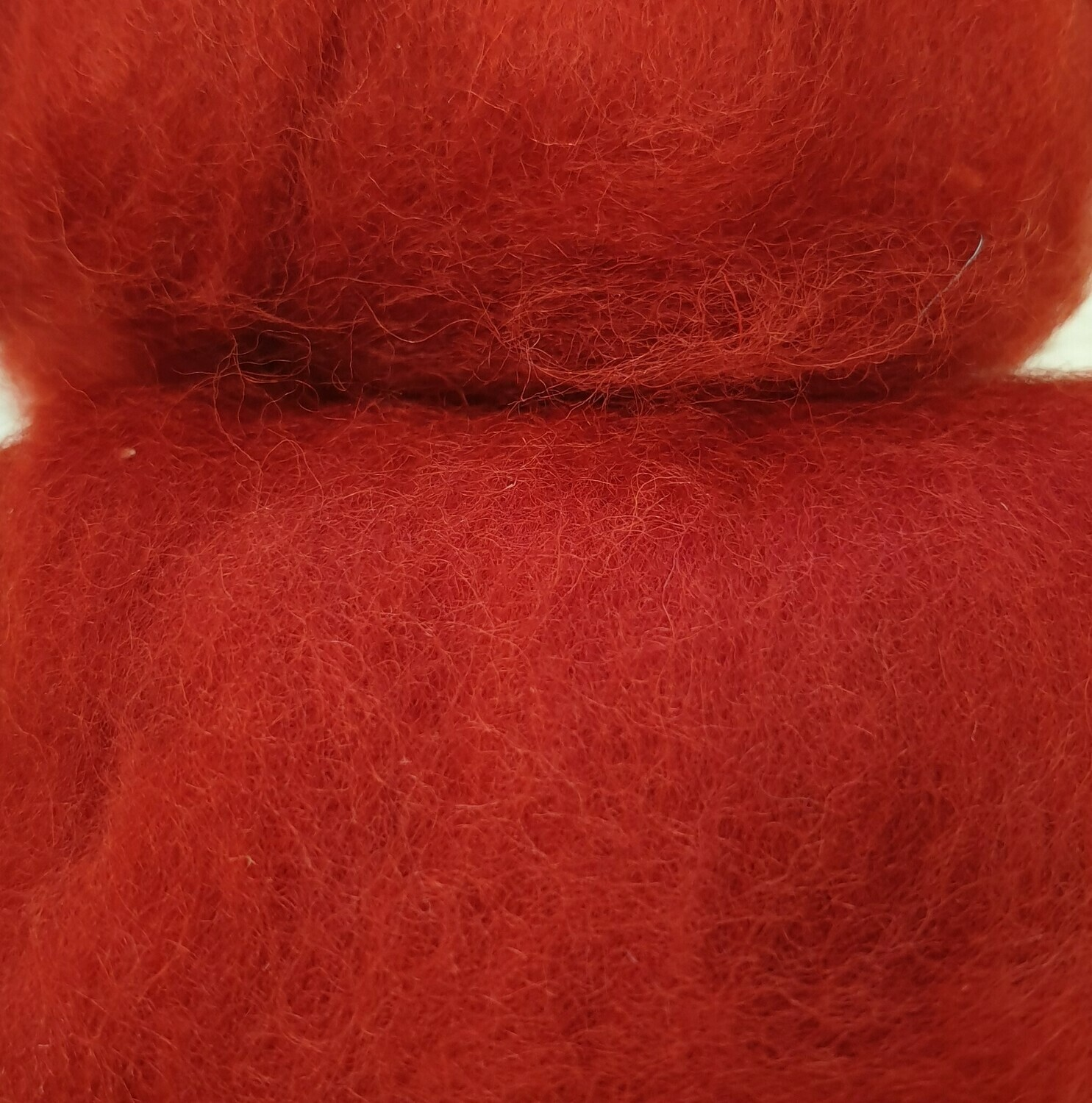 Carded Felting Wool  20 g -  Christmas Red