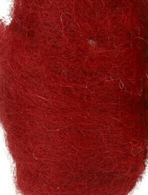 Carded Felting Wool  20 g -  Deep Red / Wine