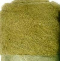 Carded Felting Wool  20 g - Light Olive Green