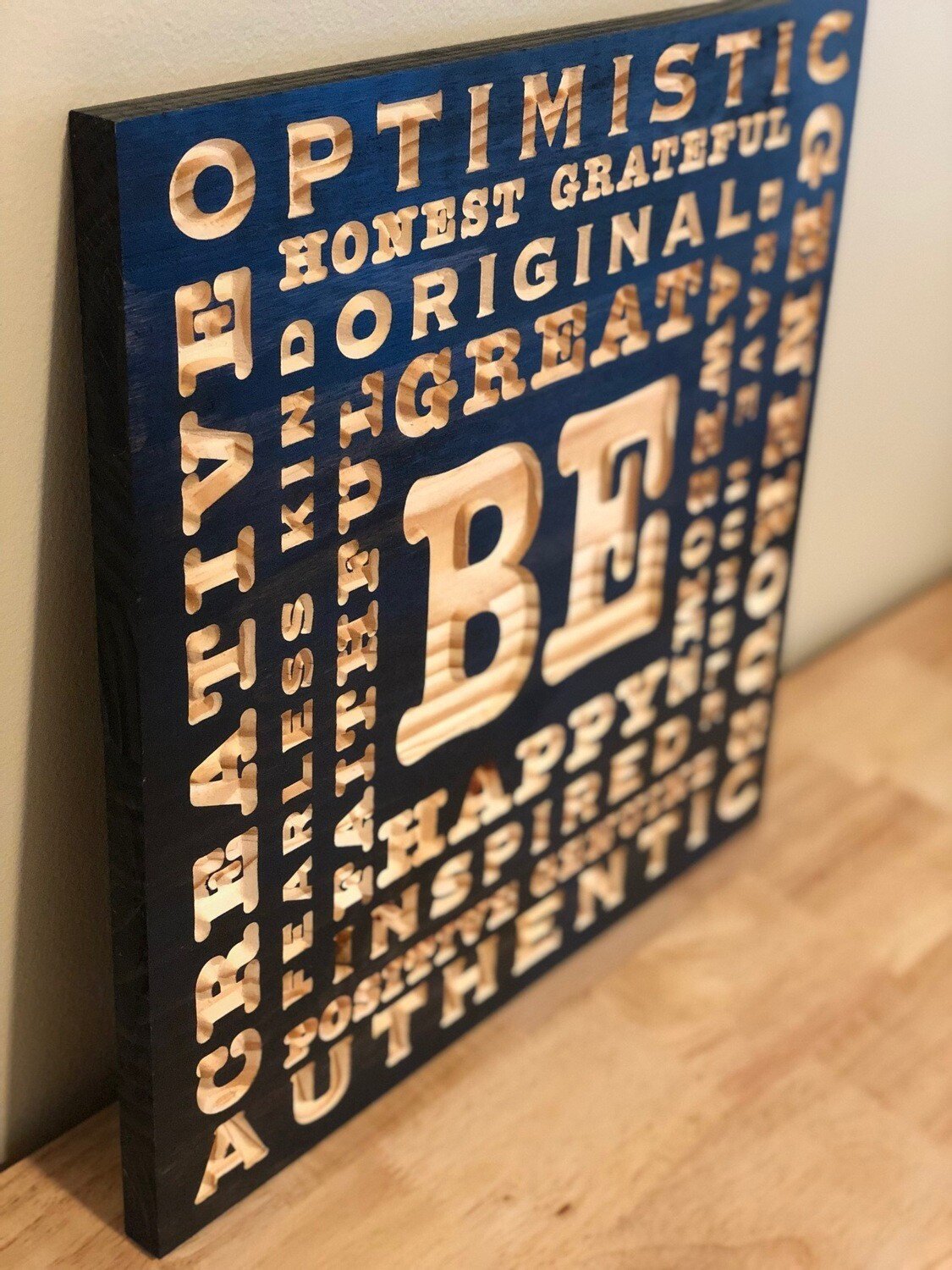BE Wooden Word Art