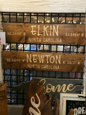 Customized Wooden City Sign