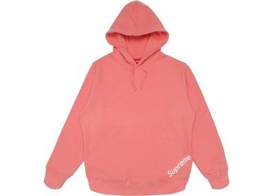 Supreme Corner Label Hoodie Pink Size