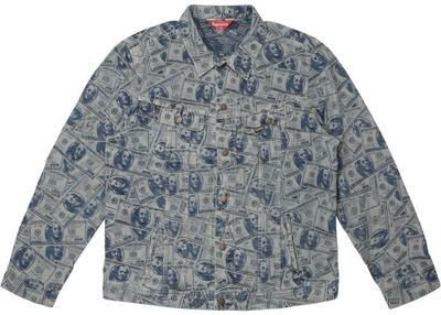 Supreme Dollar Bill Denim Jacket