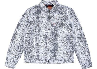 Supreme Snakeskin Denim Jacket