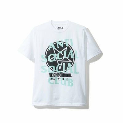 Anti Social Social Club x Neighborhood White w/ Teal