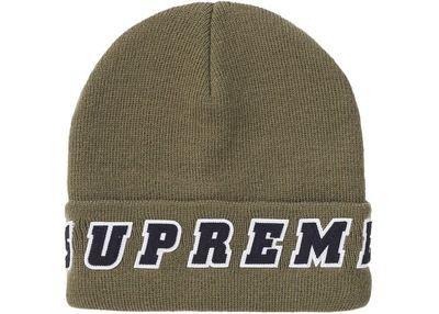 Supreme Felt Logo Beanie Olive