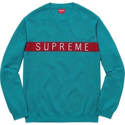 supreme Pique Sweatshirt Blue/Red
