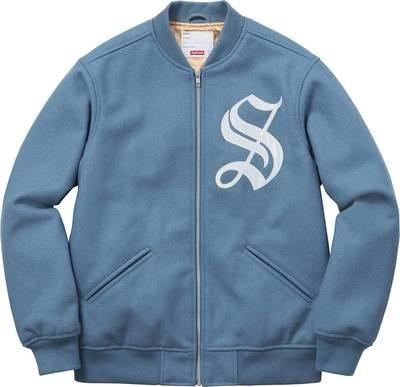Supreme Old English Means Highest Varsity Jacket