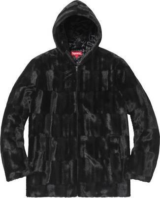 Supreme Faux Fur Zip Up Black