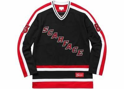 Supreme Scarface Hockey Jersey Black