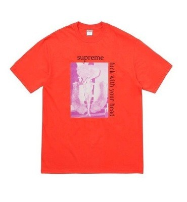 Supreme Orange Fuck With Your Head Tee