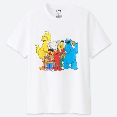 Kaws Sesame Graphic Tee White