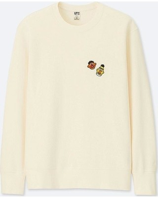 Kaws Graphic Crewneck Cream