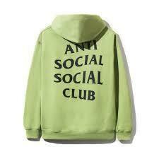 Anti Social Social Club Flamingo Neon Green Hoodie