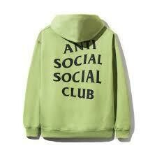 Anti Social Social Club Flamingo Neon Green Hoodie
