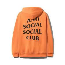 Anti Social Social Club Flamingo Bright Orange Hoodie