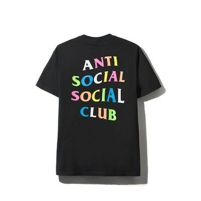 Anti Social Social Club Rainbow Black Tee