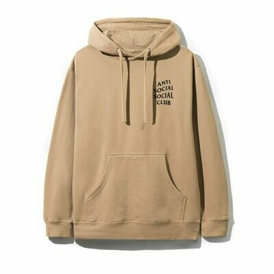 Anti Social Social Club Fuck Everyone Its Just You In The End Sand Hoodie