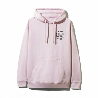 Anti Social Social Club Fuck Everyone Its Just You In The End Pink Hoodie