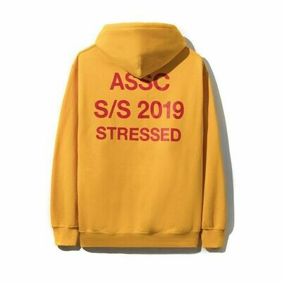 Anti Social Social Club Stressed Yellow Hoodie