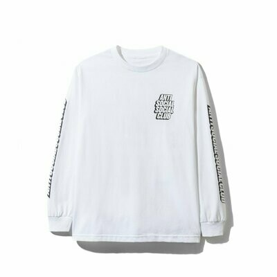 Anti Social Social Club Block Me White Long Sleeve Tee