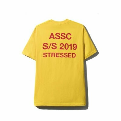 Anti Social Social Club Stressed Yellow Tee Hoodie