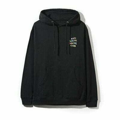 Anti Social Social Club Rainbow Black Hoodie