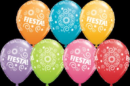 Fiesta Printed Balloons
